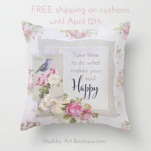 FREE shipping on shabby cushions!