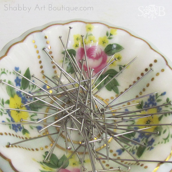 Shabby Art Boutique - DIY Magnetic Pin Dish tutorial 3
