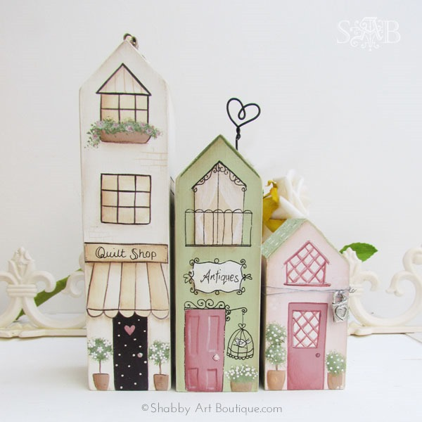 DIY - shabbilicious Village Shops by Kerryanne English for Shabby Art Boutique.com © 2011