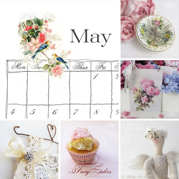 Shabby Art Boutique - May collage