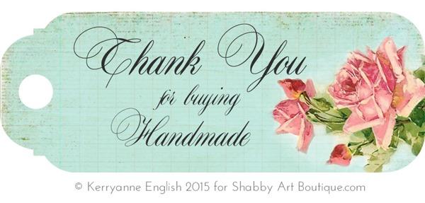 Shabby Art Boutique - Printable Handmade Tags 2
