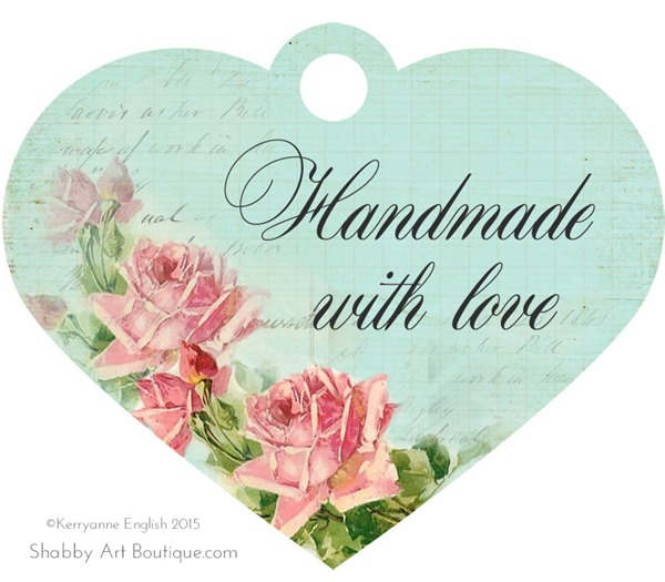 Shabby Art Boutique - Printable Handmade Tags