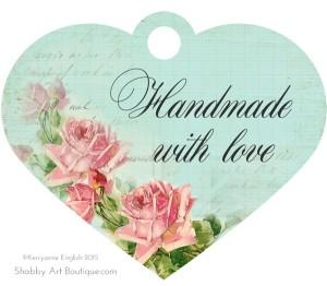 Shabby Art Boutique - Printable Handmade Tags