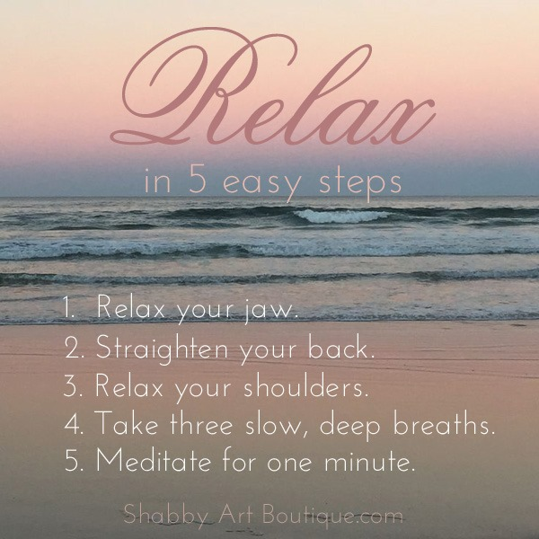 Shabby Art Boutique - Relax in 5 easy steps