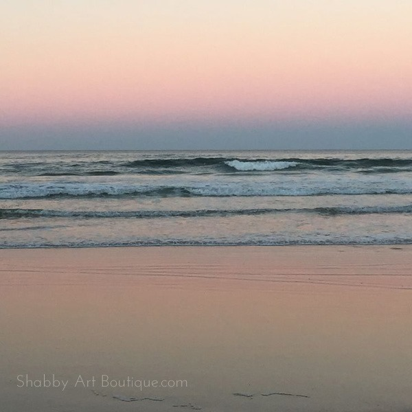 Shabby Art Boutique bHome Summer Tour - Shelly Beach at sunset
