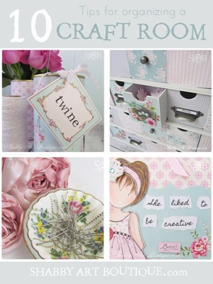 Shabby Art Boutique 10 tips for organising a craft room