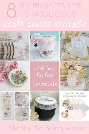 Shabby Art Boutique 8 craft storage projects