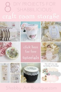 8 DIY 'shabbilicious' Craft Storage Projects