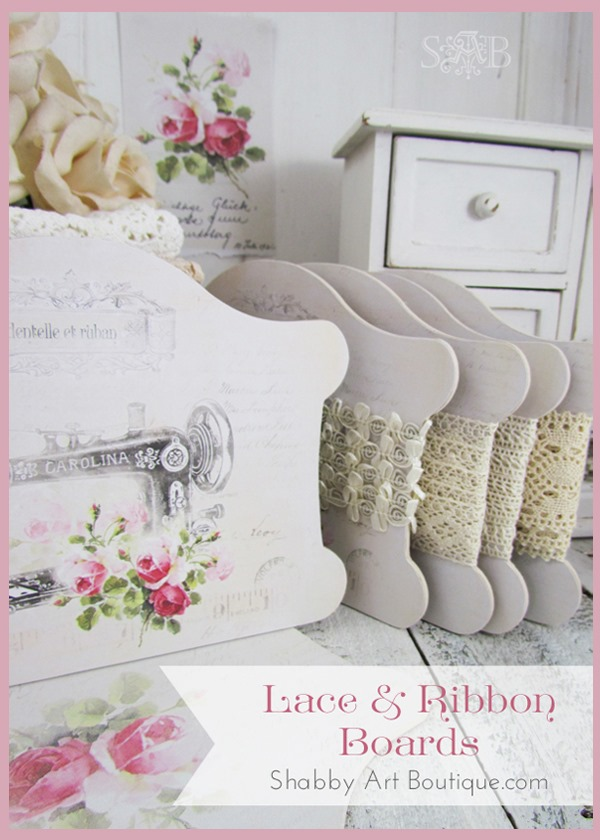 Shabby Art Boutique - DIY Lace & Ribbon Boards