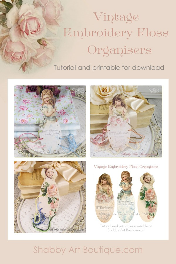Shabby Art Boutique Embroidery Floss Organisers