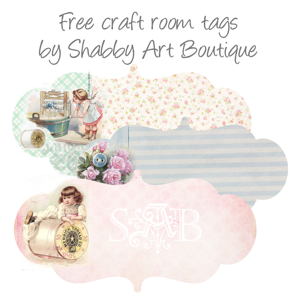 Shabby Art Boutique free printable tags/labels