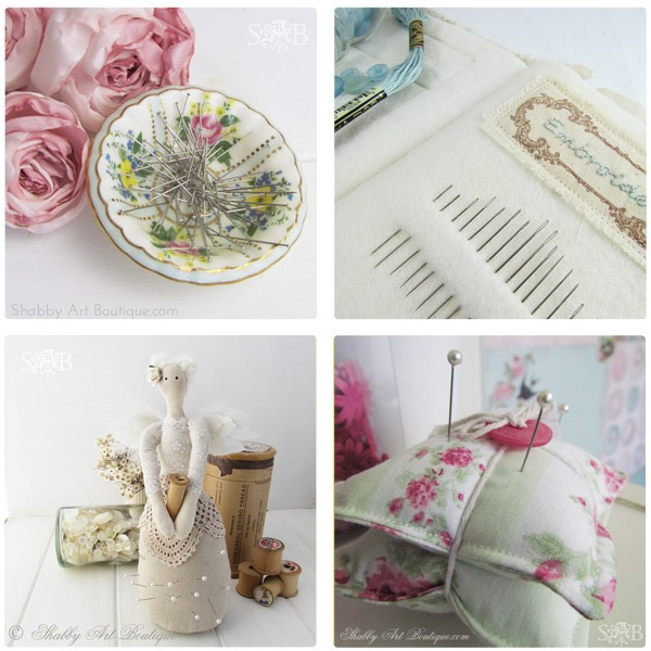 Shabby Art Boutique pin cushions