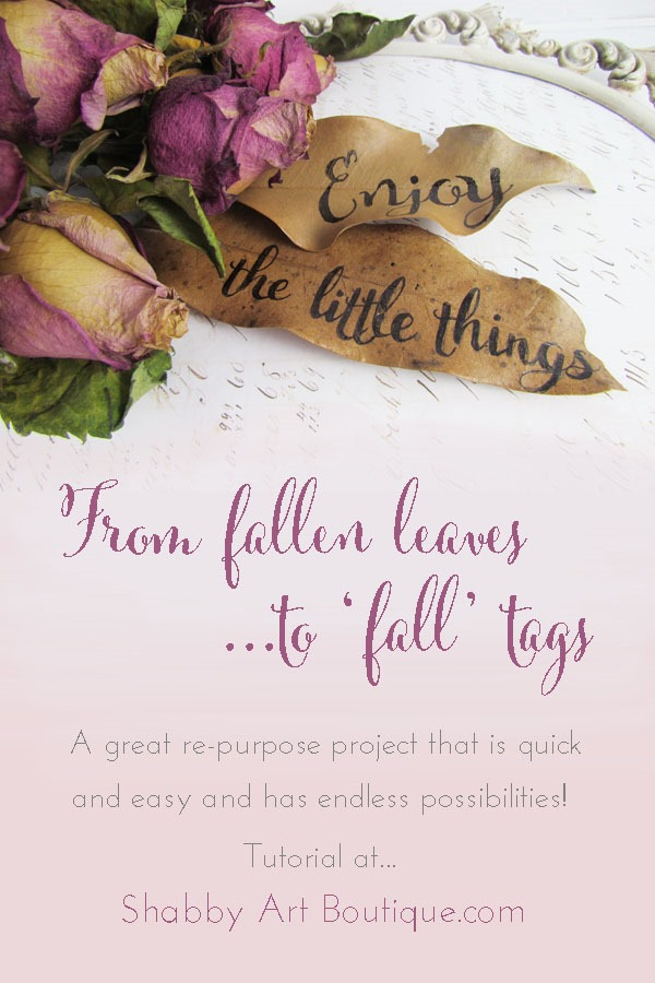 Shabby Art Boutique - Leaf Tag project