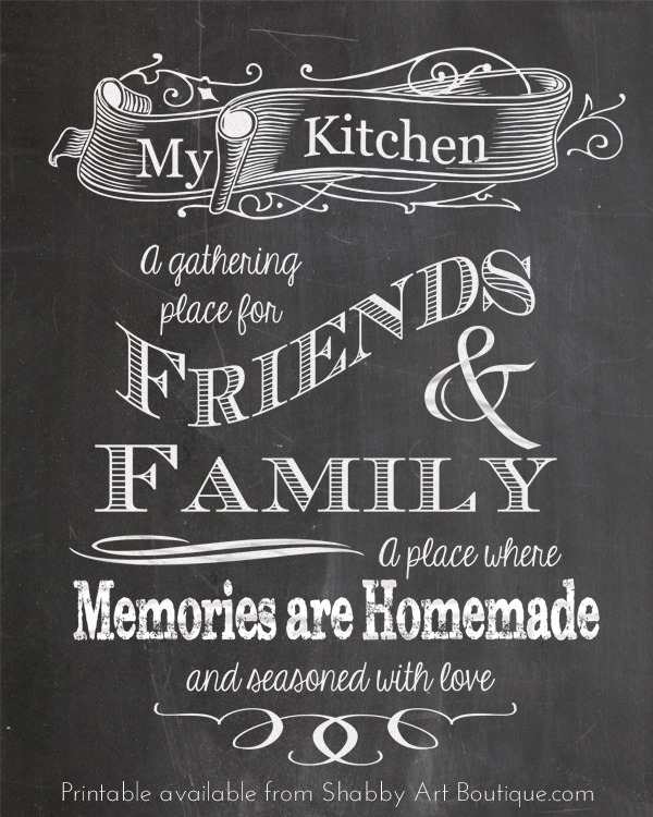 Shabby Art Boutique - free chalkboard printable