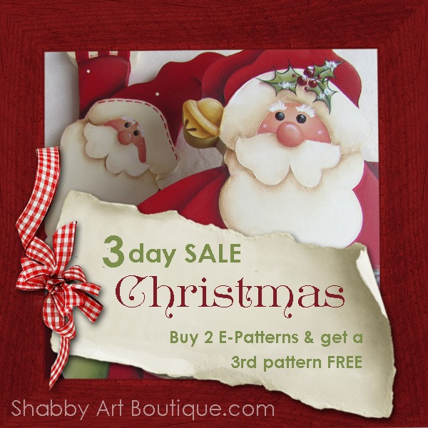 Shabby Art Boutique 3 day Christmas sale