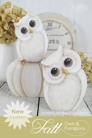 Shabby Art Boutique - E-pattern - Fall Owls and Pumpkins