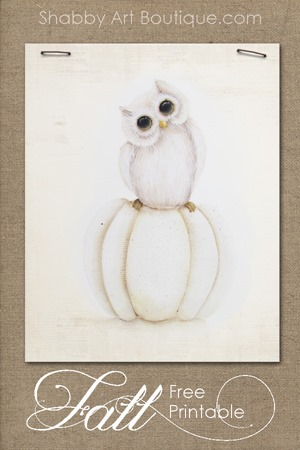 Shabby Art Boutique - pumpkin and owl free printable