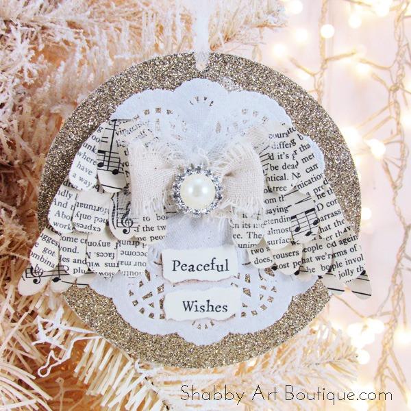 Prime Angel Wing Christmas Ornament Shabby Art Boutique Easy Diy Christmas Decorations Tissureus