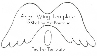 Angel wing christmas ornament shabby art boutique for Angel decoration template