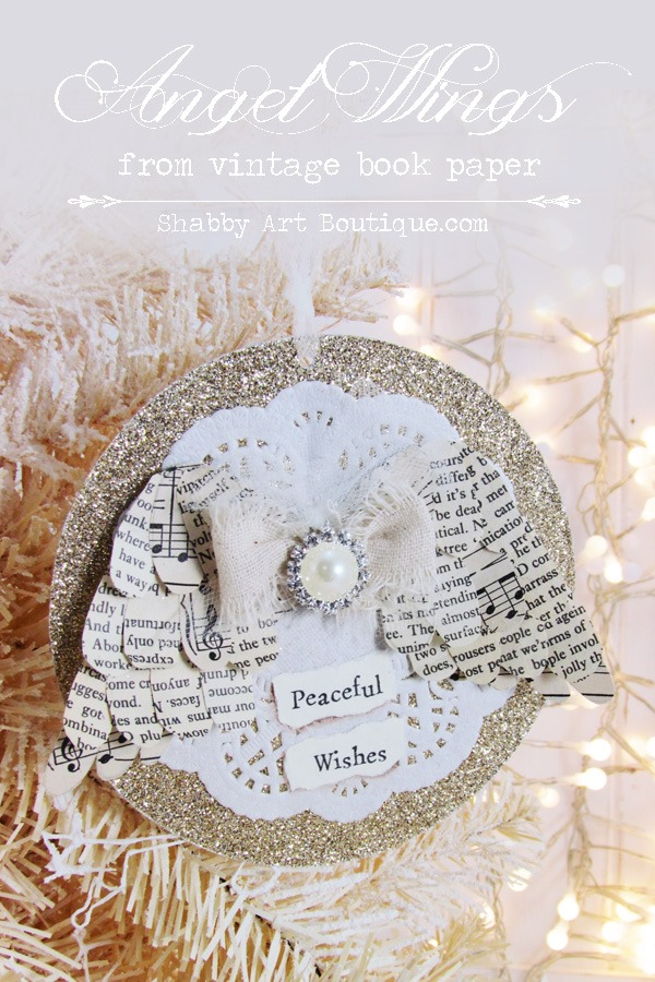 Angel Wing Christmas Ornament Shabby Art Boutique