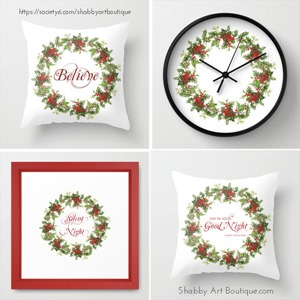 Shabby Art Boutique - Christmas Wreath - Society 6