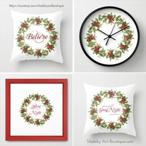 Shabby Art Boutique - Christmas Wreath - Society 6