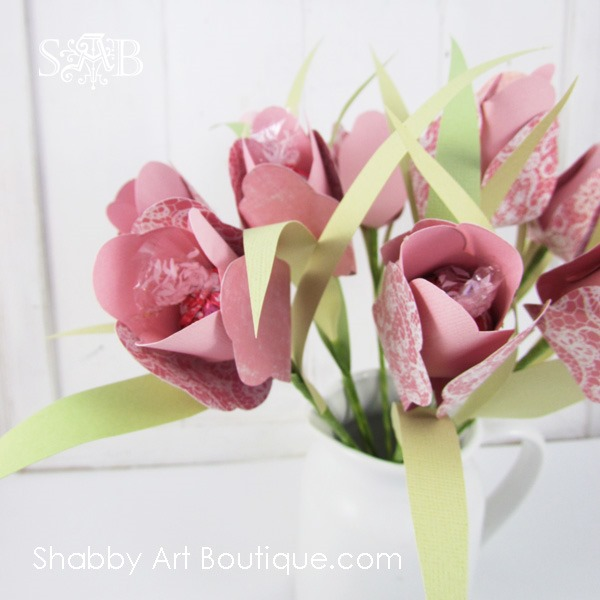 How to make a bouquet of chocolate flowers - Shabby Art Boutique