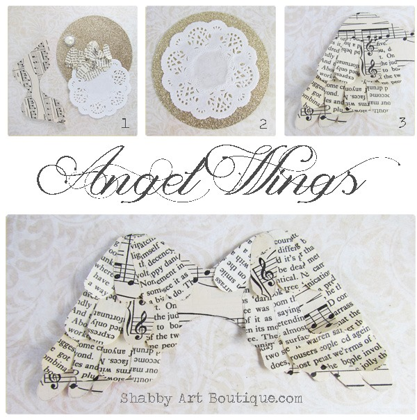 Shabby Art Boutique - how to make book paper angel wings