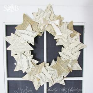 Shabby Art Boutique paper wreath