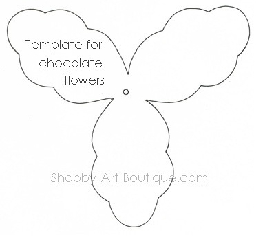Shabby Art Boutique - template for chocoate flowers.