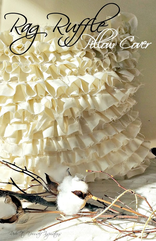 Rag Ruffle Pillow Cover by Redo It (1)