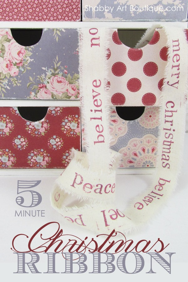 Shabby Art Boutique - 5 minute Christmas Ribbon