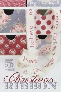 Shabby Art Boutique - 5 minute Christmas Ribbon