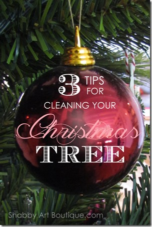 Shabby Art Boutique - How to clean your artificial Christmas tree