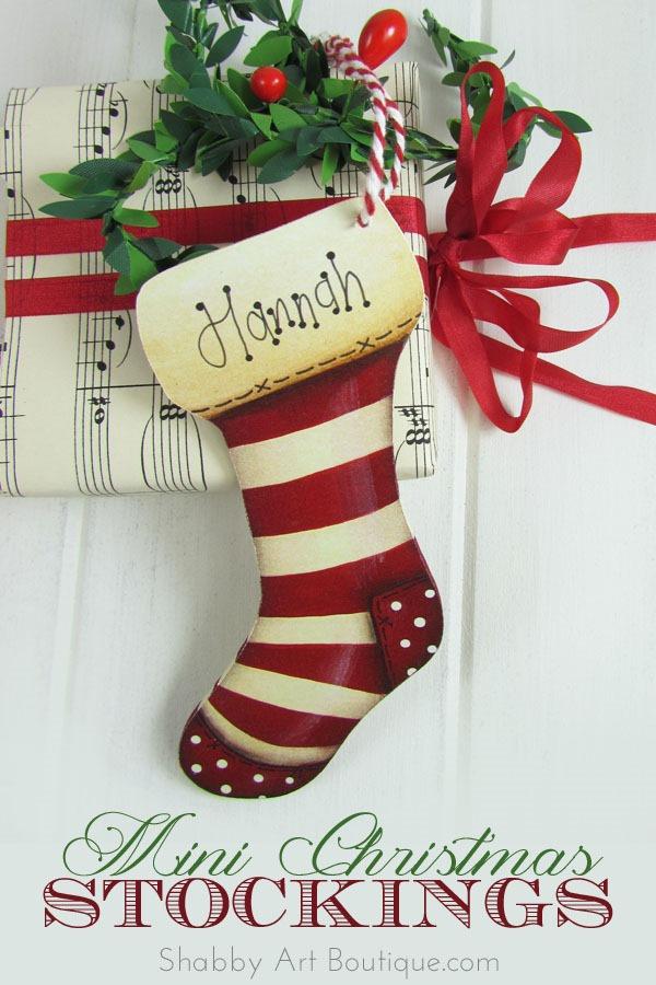 Shabby Art Boutique - Mini Christmas Stockings