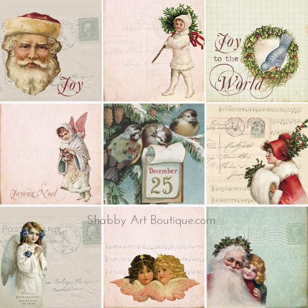 Shabby Art Boutique - Vintage Advent Calendar 4