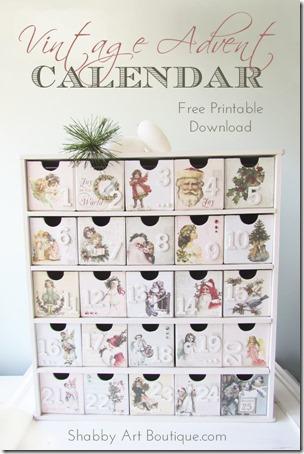 Shabby Art Boutique - Vintage Advent Calendar