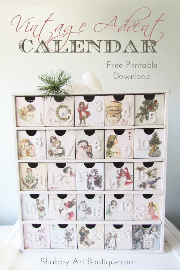 Shabby Art Boutique - Vintage Advent Calendar