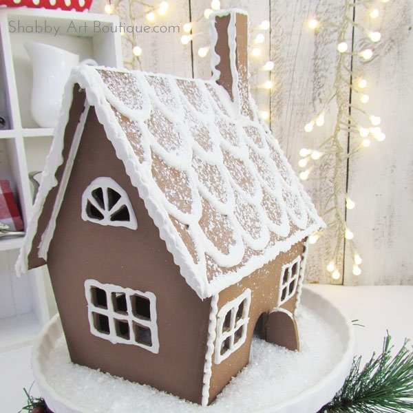 How to make a faux gingerbread house by Shabby Art Boutique.com