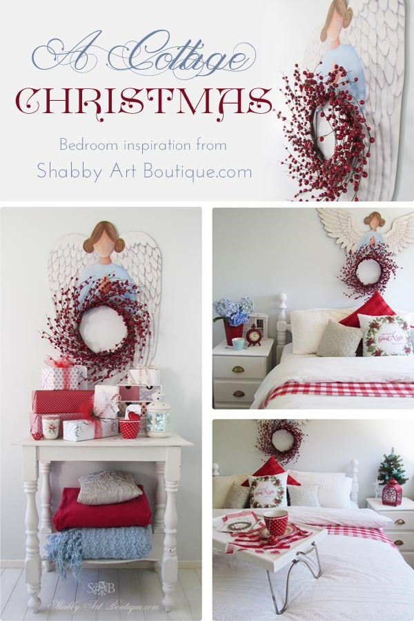 A Cottage Christmas Bedroom - Shabby Art Boutique