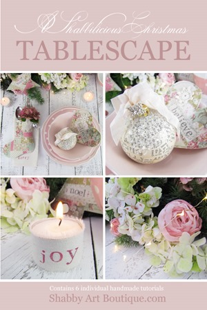 A Shabbilicious Christmas Tablescape by Shabby Art Boutique