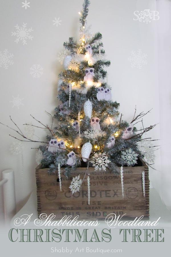 A Shabbilicious Woodland Christmas Tree - Shabby Art Boutique