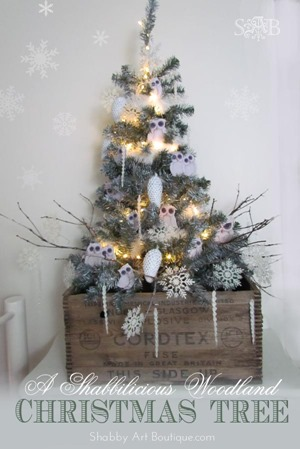 A Shabbilicious Woodland Christmas Tree - Shabby Art Boutique