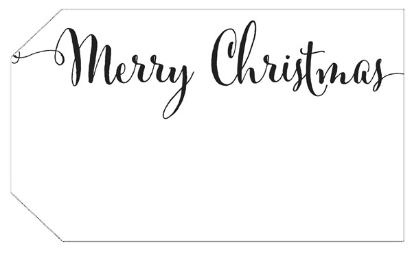 Shabby Art Boutique Christmas Tag 1