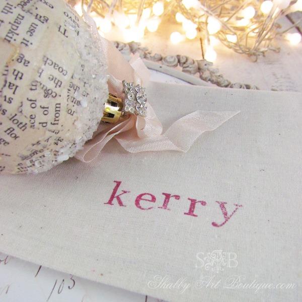 DIY - stamped napkins