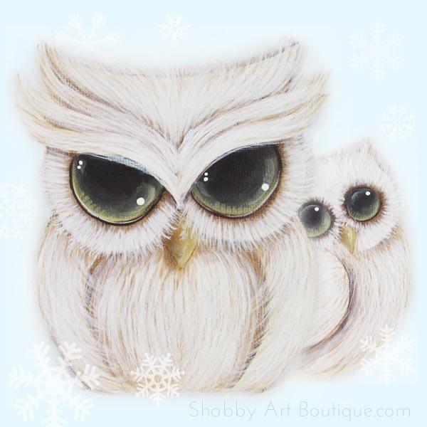 Shabby Art Boutique - Shabbiliicous Owls - free printable