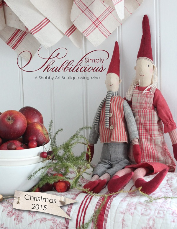 Shabby Art Boutique - Simply Shabbilicious magazine, Christmas 2015