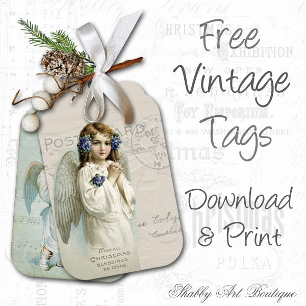 Shabby Art Boutique vintage tags 3