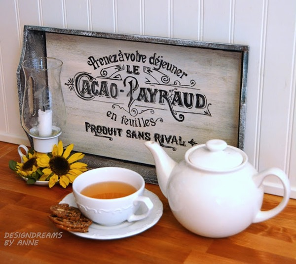 FRENCH GRAPHIC TRAY MAKEOVER