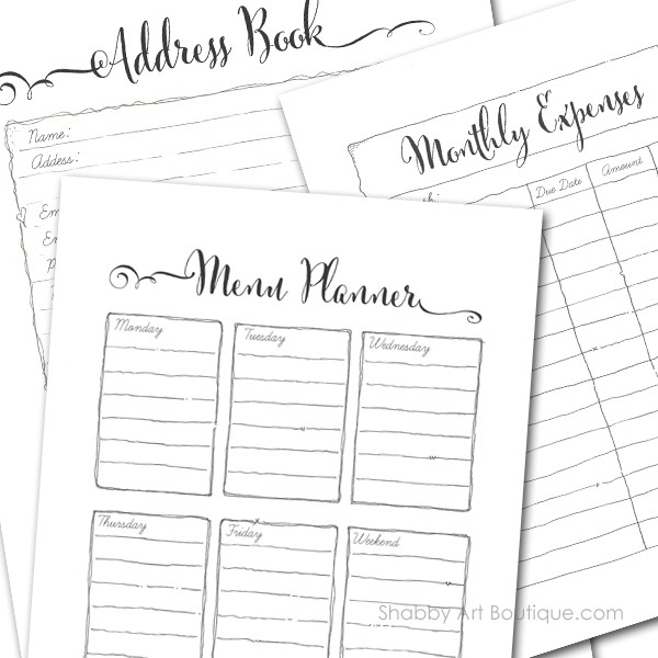 Shabby Art Boutique - 2016 home planner